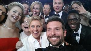 Ellen DeGeners' famous Oscar photo
